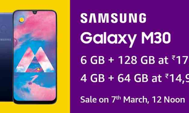 Samsung Launched Galaxy M30: Price, specs & Features