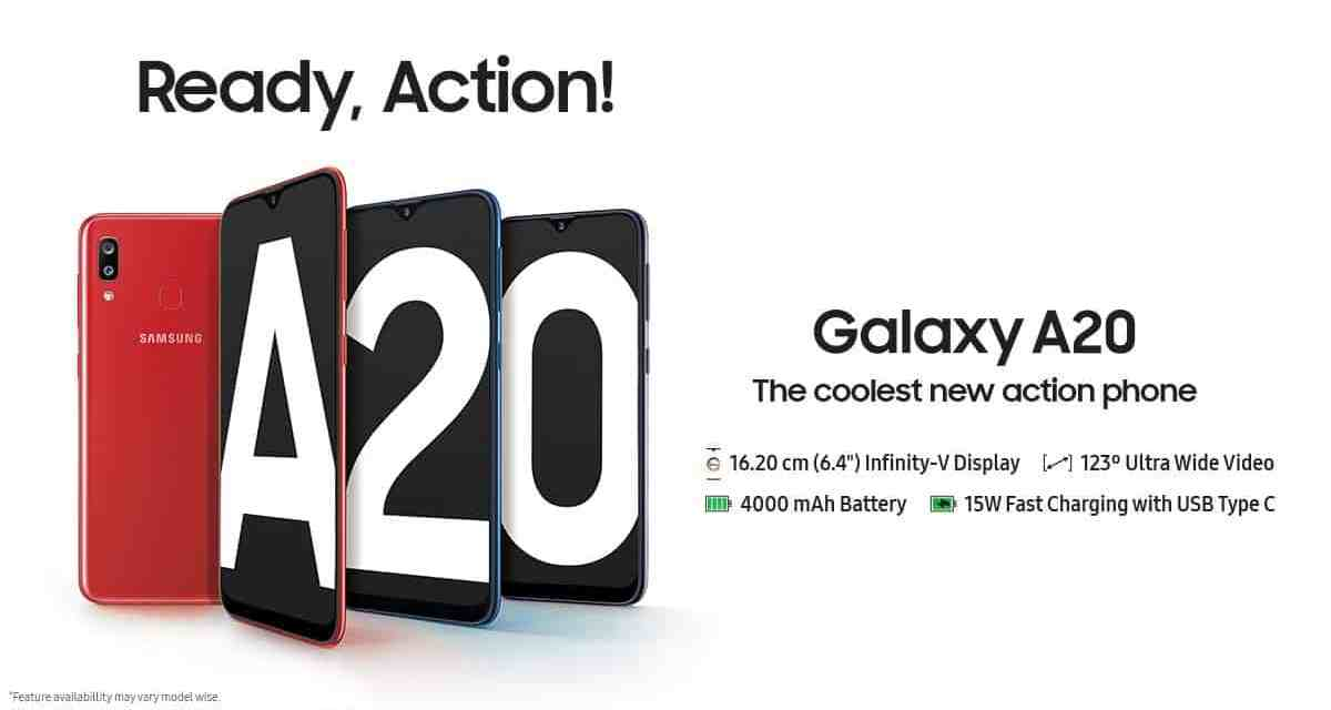 Samsung launched Galaxy A20 for Rs. 12,490 | Over Priced