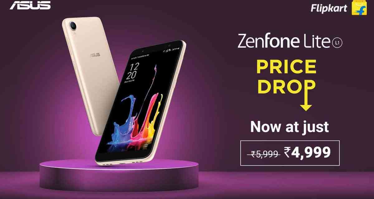 ASUS Zenfone Lite L1 gets Permanent Price Drop to Rs. 4,999