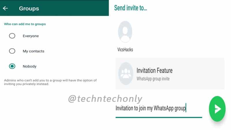 WhatsApp Group Invitation feature stable update rollout