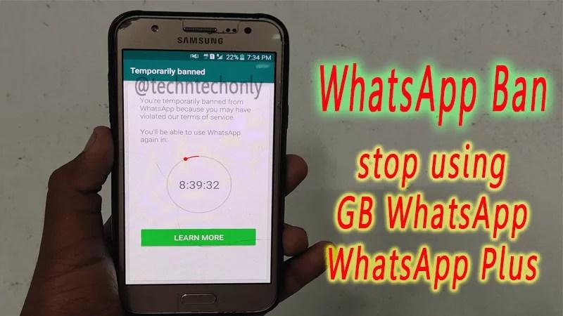 WhatsApp Ban user accounts because of using modded WhatsApp Application