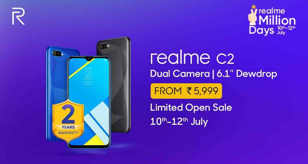 Realme C2 comes with 2 years warranty inline with Redmi 7A