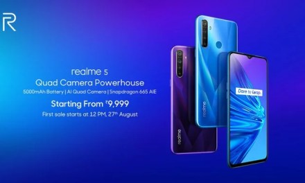 Realme 5 launched price Rs. 9,999 with Quad AI camera, 5000mAH battery, SDM 665 processor