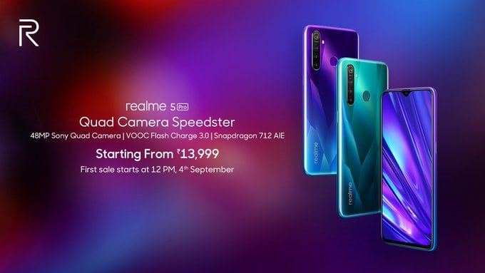 Realme 5 Pro launched, price starts from Rs. 13,999: Full Specs, sale date