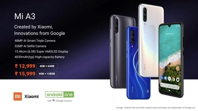 Xiaomi Mi A3 price in India starts Rs. 12,999: Phenomenal Upgrade!