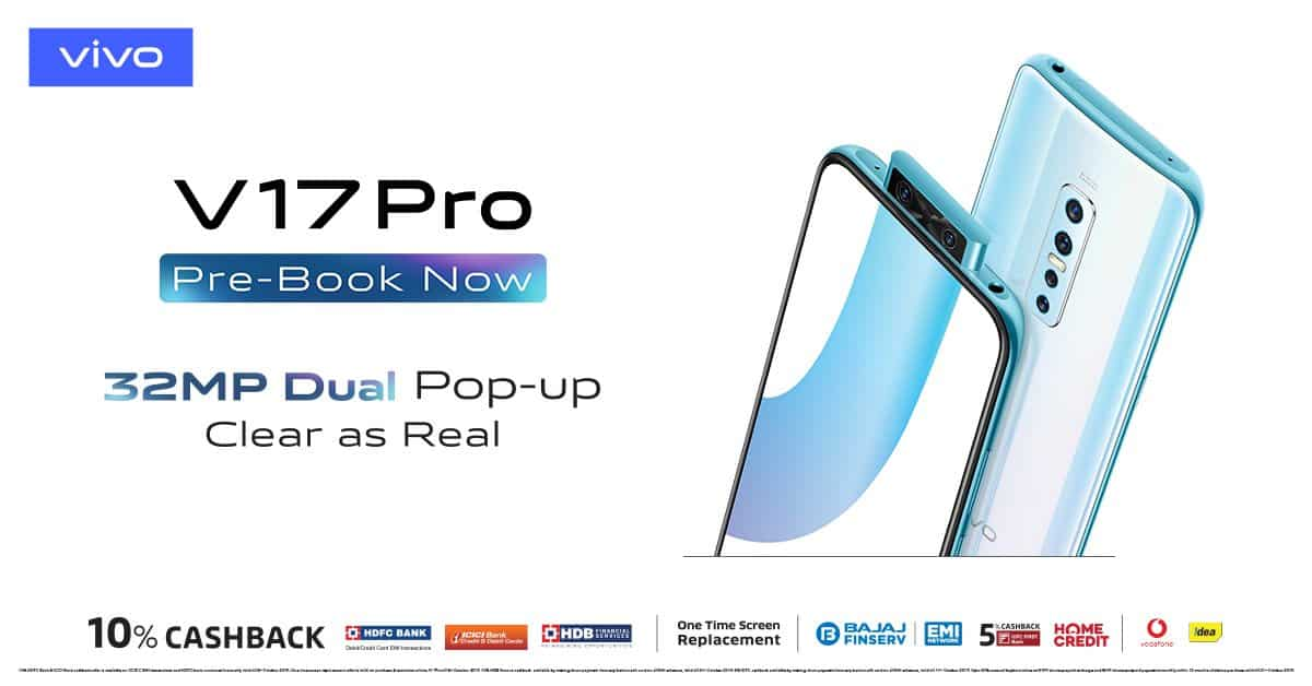 VIVO V17 PRO price in India starts at Rs. 29,990; Full Specs & Features