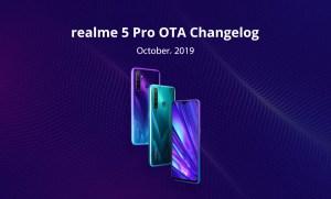 Realme 5 Pro new OTA update