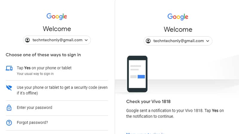 How to Sign in Google Account without passwords securely