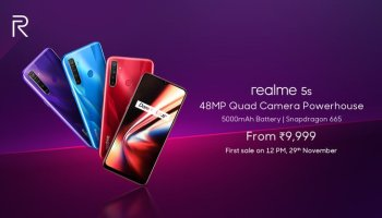 realme 5s launch price