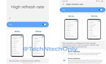 Samsung Galaxy S11 series feature Optimized 60Hz & 120Hz screen refresh display to save battery