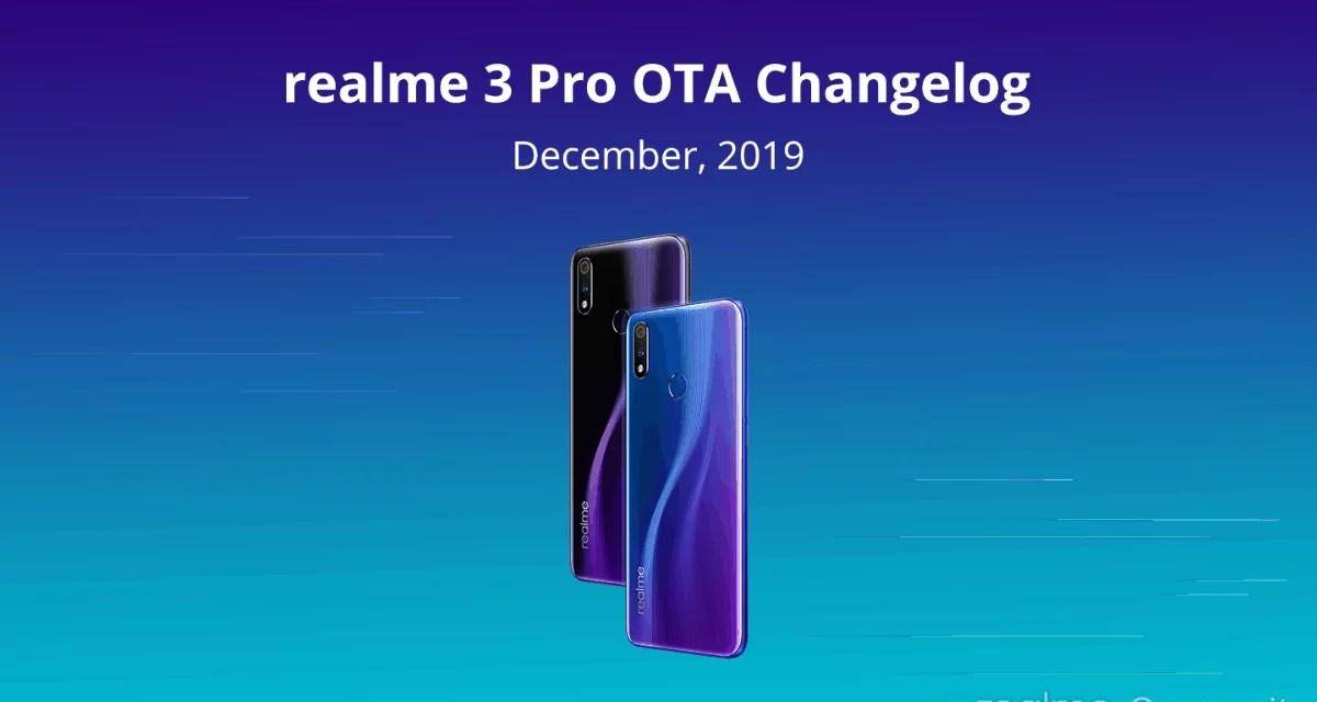 Realme 3 Pro December OTA update & Changelog