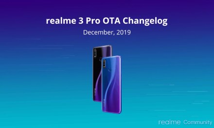 Realme 3 Pro December OTA update & Changelog