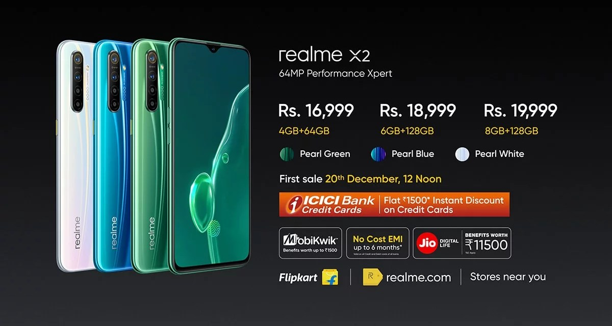 Realme X2 launched, price in India starts at Rs. 16,999
