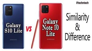 Galaxy S10 lite vs Note 10 lite