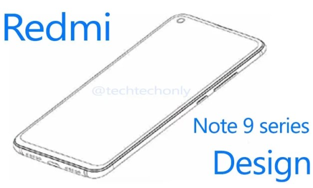 Redmi patent punch-hole display for Redmi Note 9 series