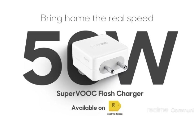 Realme 50W Super VOOC Charger priced for Rs. 1699