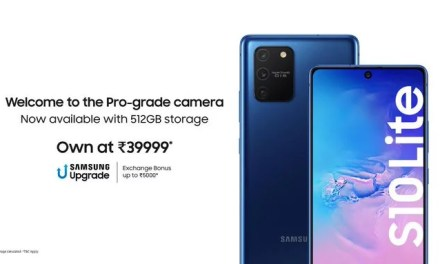 Samsung Galaxy S10 Lite 512GB memory variant priced for Rs. 44,999