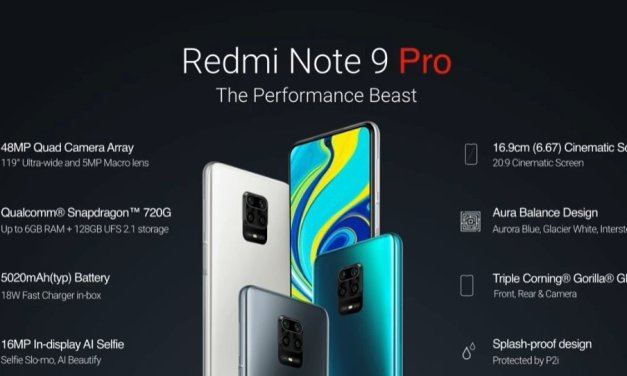 Redmi Note 9 Pro Specifications – 48MP Quad Cameras, 16MP Selfie, Snapdragon 720G