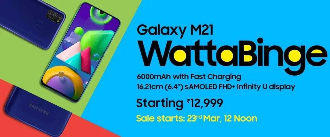 Samsung Galaxy M21 Price, Specs details