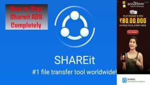 How to turn off shareit ads