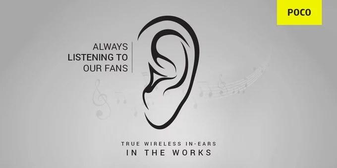 POCO TWS In-Ear Wireless Earbuds launch in India soon