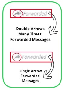 whatsapp single & Double arrow forwarded messages
