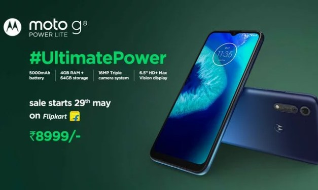 Motorola G8 Power Lite launched in India – Here its Price, Specs