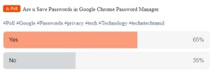 Google saved passwords poll results
