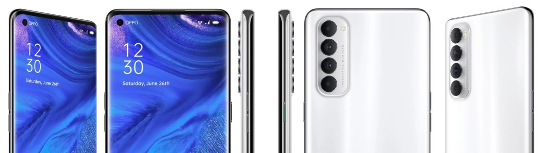 Oppo Reno 4 Pro smartphone official color variants are revealed before the launch. It designed in two colors - Silky White & Starry Night (Black)