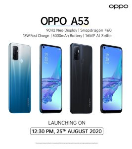 oppo a53 india launch, specs, features