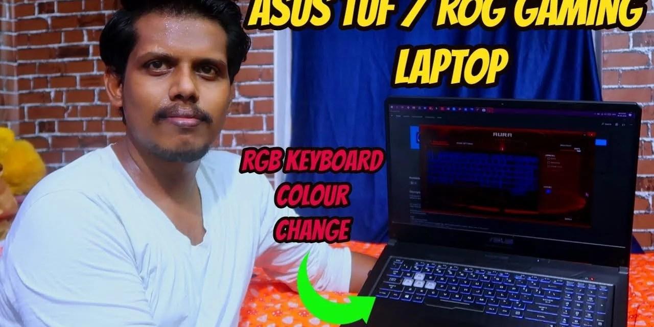 How to Change ASUS TUF & ROG Gaming laptop keyboard colors