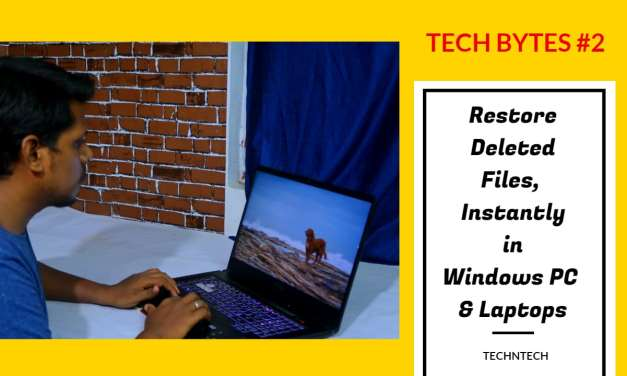 How to restore deleted files, photos in Windows PC & Laptops