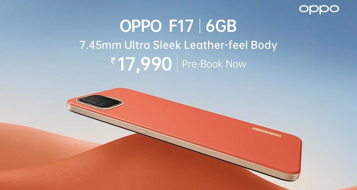 Oppo F17 launched in India – Here it Price & Specs