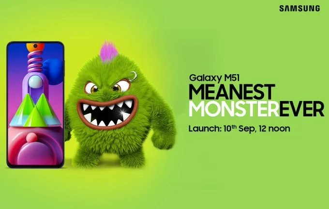 Samsung Galaxy M51 launching in India on 10th September & Price details
