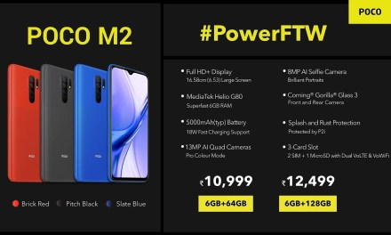 POCO M2 launched in India – Here its Price & Specs details