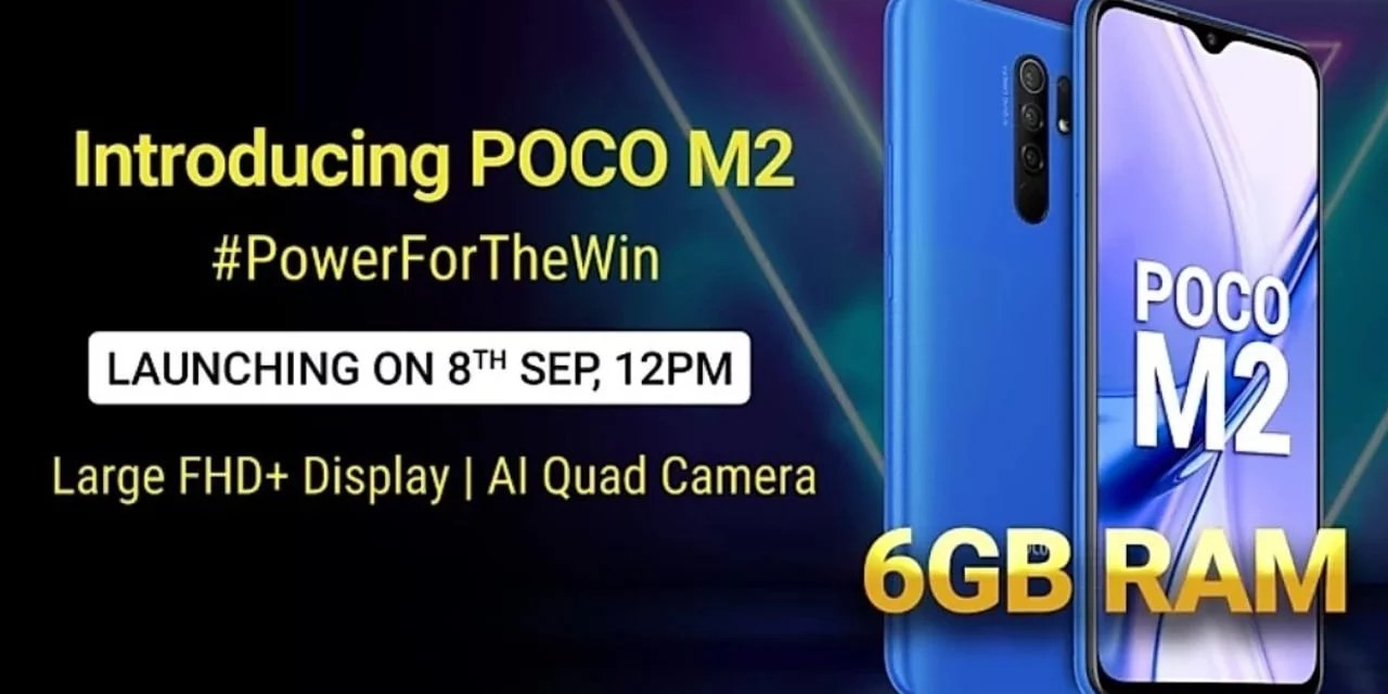 Poco M2 launching in India on 8th September – Rebrand?