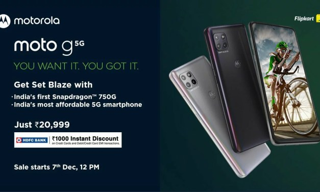 Moto G 5G launched in India for Rs. 20999