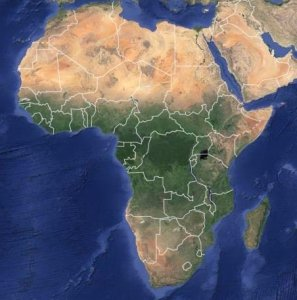Map of Africa The vegetation in Africa very much depends on the climate and rainfall  patterns  more specifically   heat and moisture  You can see this when you  compare