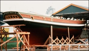 Pacific Swift under construction in Vancouver at Expo 86