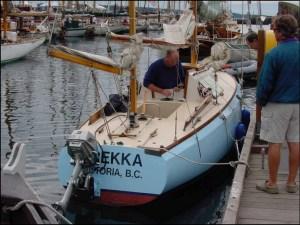 The Yawl Trekka at the Victoria Classic Boat Festival
