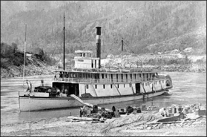 Victoria Steamship Company's R.P. Rithet at Yale B.C. on the Fraser River in 1882. Source: Courtesy of Wikimedia Commons