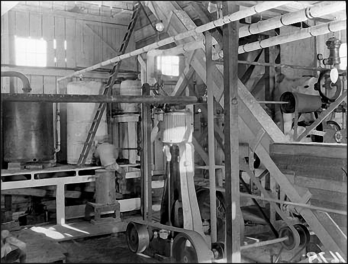 Inside the Turpentine Plant on Porter's Wharf
