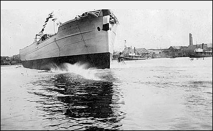 During World War I the Foundation Company leased Turpel's Marine Railway at Point Hope to build 24 2,500 ton coastal freighters built of Douglas Fir coastal freighters. Pictured above is the launch of one of those vessels.