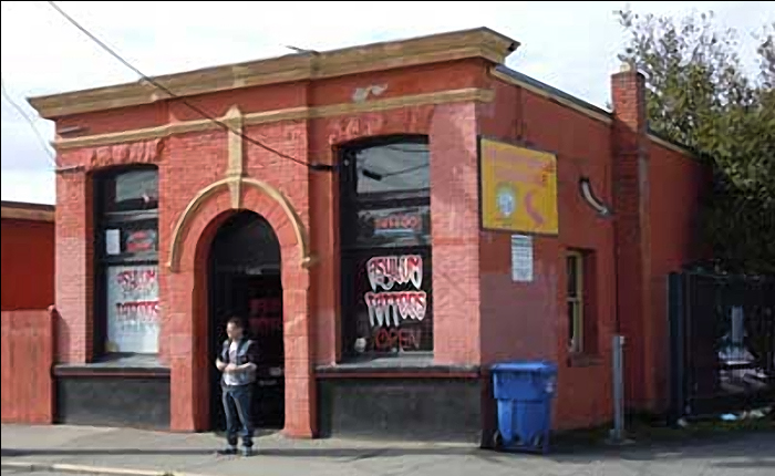 This elegant little structure is one of the city's earliest surviving office buildings. It was built in 1892 for Charles Joseph Vancouver Spratt, son of Joseph Spratt who founded the Albion Iron Works. Image courtesy of Victoria Heritage Society.