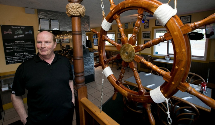 Bill Lang, owner of the Princess Mary Restaurant first in the Upper Harbour then at West Bay Marina, is preparing to close it. The restaurant first opened 60 years ago. Photo: Times Colonist