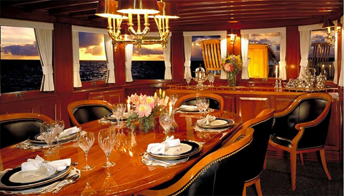 Dining salon aboard MV Olympus