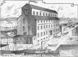 Brackmann & Kerr flour mill. Victoria Illustrated, 1891. Courtesy of the Barr family.