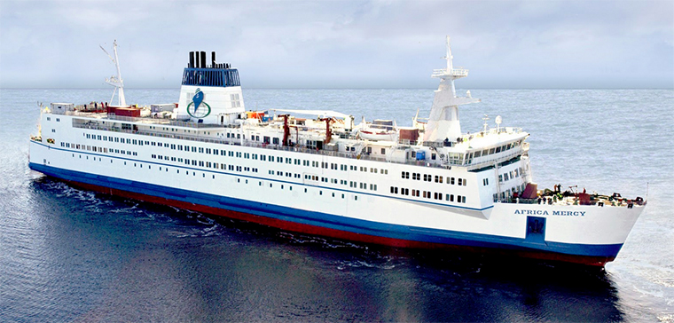 The hospital ship African Mercy
