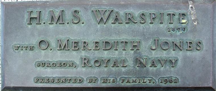 Plaque 65 HMS Warspite