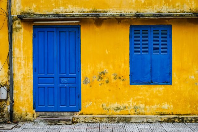 Hoi An yellow wall; image by James Pham